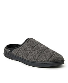 Heathered Knit Quilted Clog Slipper