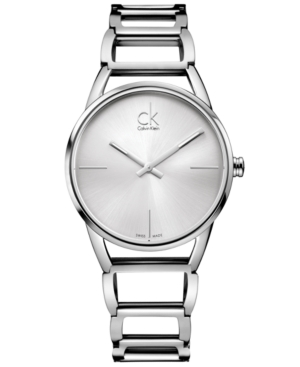Calvin Klein Watch, Women's Swiss Stately Stainless Steel Bracelet 34mm K3G23126