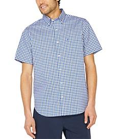 Men's Big & Tall Navtech Performance Stretch Plaid Short Sleeve Shirt