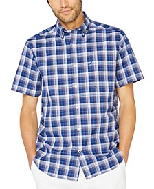 Men's Big & Tall Stretch Plaid Short Sleeve Shirt