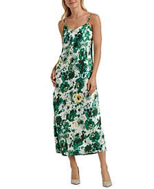 Natalie Floral-Print Slip Dress
