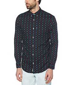 Men's Printed Dobby Woven Shirt