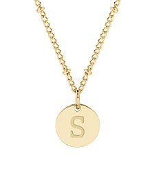 Madeline 14K Gold Plated Initial Pendant