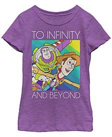 Big Girls Toy Story 1-3 Infinity Short Sleeve T-shirt