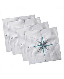 "Compass Set of 4 Napkins, 12"" x 12"""
