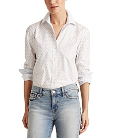 Polka-Dot Easy-Care Shirt