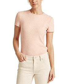 Lauren Ralph Lauren Polka-Dot Cotton-Blend T-Shirt