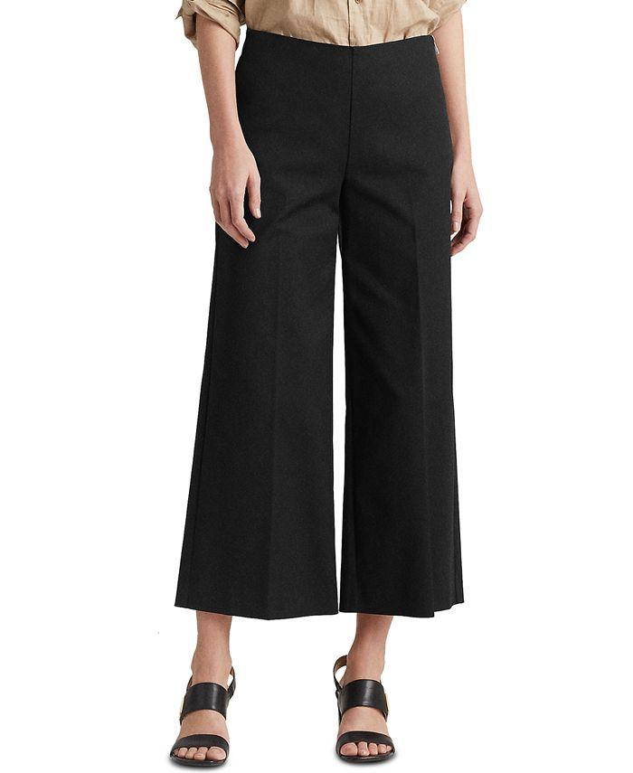 Lauren Ralph Lauren - Cotton Wide-Leg Pants