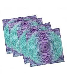 "Ornate Hippie Set of 4 Napkins, 12"" x 12"""