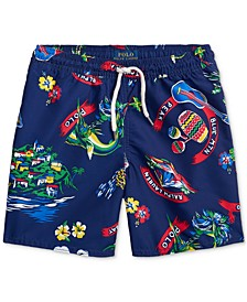 Little Boys Captiva Tropical Swim Trunks