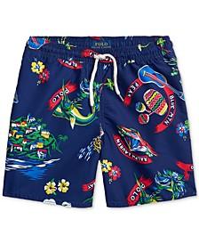 폴로 랄프로렌 남아용 수영복 하의 Polo Ralph Lauren Little Boys Captiva Tropical Swim Trunks,Ralph-waiian