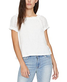 Julia Crochet Sleeves T-Shirt