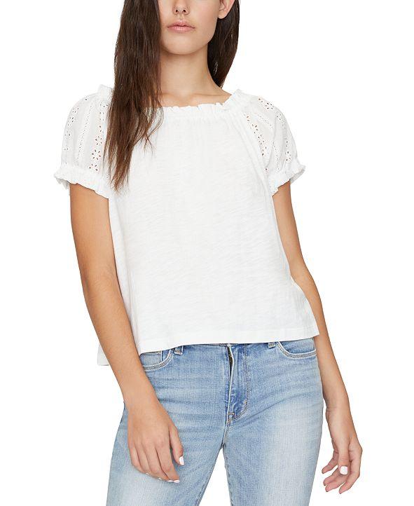 Sanctuary Julia Crochet Sleeves T-Shirt