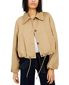 INC Drawstring Bomber Jacket, Created for Macy's