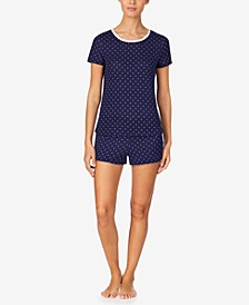 Women's Sweater-Knit Shorty Pajama Set, Online Only