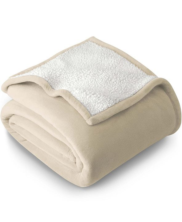 Bare Home Sherpa Fleece Blanket, Twin/Twin XL
