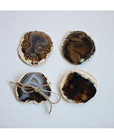 Brown Agate Coaster Set