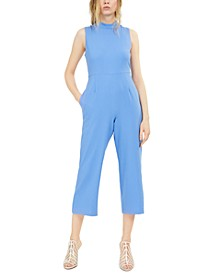 INC Mock Neck Wide-Leg Jumpsuit, Created for Macy's