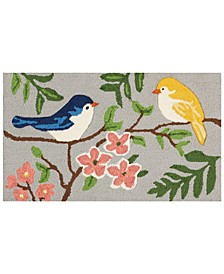 "Hand Hooked Birds 18""x 30"" Accent Rug"