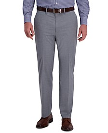 J.M. Men's Classic-Fit 4-Way Stretch Textured Plaid Performance Dress Pants