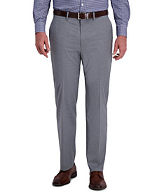 J.M. Haggar Men's Classic-Fit 4-Way Stretch Textured Plaid Performance Dress Pants