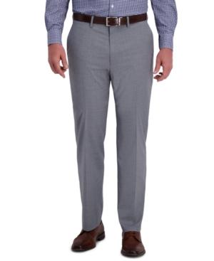Men's Classic-Fit 4-Way Stretch Textured Plaid Performance Dress Pants