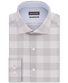 Men's Air+ Slim-Fit Performance Stretch Plaid Dress Shirt