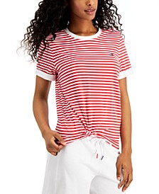 Striped Knot Front T-Shirt