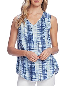 Linear Shibori Printed Blouse
