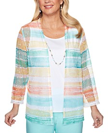 Spring Lake Striped Layered-Look Top