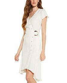Lucia Linen Wrap Dress