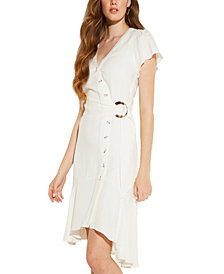 GUESS Lucia Linen Wrap Dress