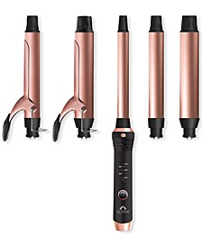 5-Pc. Clip & Clipless Barrels Curling Iron & Wand Set