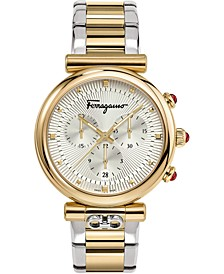 Women's Swiss Chronograph Ora Two-Tone Stainless Steel Bracelet Watch 40mm