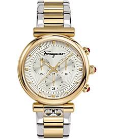 Women's Swiss Chronograph Ora Two-Tone Stainless Steel Bracelet Watch 40mm