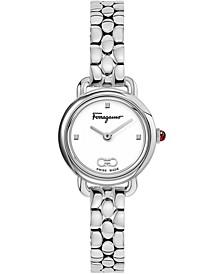 Women's Swiss Varina Stainless Steel Bracelet Watch 22mm