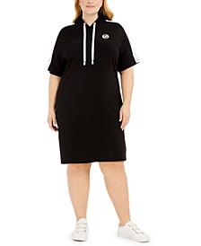 Plus Size Hoodie T-Shirt Dress