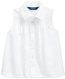 Toddler Girls Smocked Cotton Broadcloth Shirt