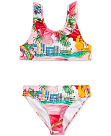 Big Girls Lobster Two-Piece Swimsuit