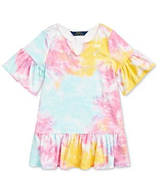 Toddler Girls Tie-Dye Terry Cover-Up