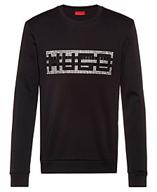 Boss Men's Fleece Studded Logo Sweatshirt