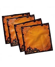 "Halloween Set of 4 Napkins, 18"" x 18"""