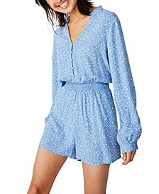 Woven Luella Long Sleeve Playsuit