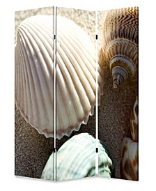 Double sided with different Design 3 Panel 6' Sea Shell Screen