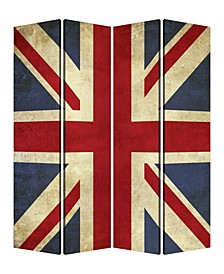 Double sided with different Design 4 Panel 7' x 7' Union Jack Screen