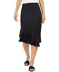Asymmetrical Flounce-Hem Skirt, Created for Macys