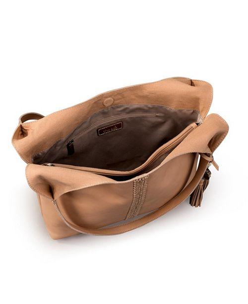 The Sak Huntley Natural Veg Tan Leather Hobo Reviews Handbags Accessories Macy S