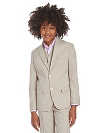 Big Boys Stretch Subtle Pinstripe Heather Suit Jacket