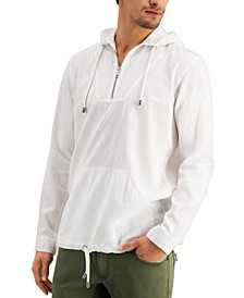 INC Men's Regular-Fit 1/4-Zip Hooded Shirt, Created for Macy's