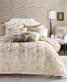 Metallic Textured Coverlet King Quilt